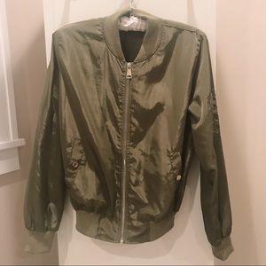 Akira Green Bomber Jacket
